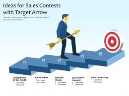 Ideas For Sales Contests With Target Arrow