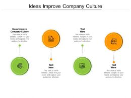 Ideas Improve Company Culture Ppt Powerpoint Presentation File Layout Cpb
