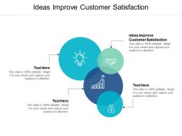 Ideas Improve Customer Satisfaction Ppt Powerpoint Presentation Outline Professional Cpb