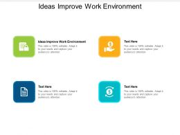 Ideas Improve Work Environment Ppt Powerpoint Presentation Outline Cpb