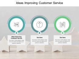 Ideas Improving Customer Service Ppt Powerpoint Presentation Slides Portfolio Cpb