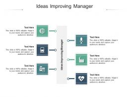 Ideas Improving Manager Ppt Powerpoint Presentation Layouts Visuals Cpb