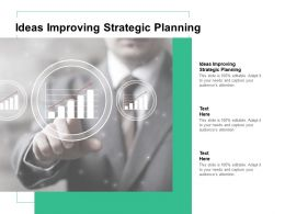 Ideas Improving Strategic Planning Ppt Powerpoint Presentation Ideas Graphics Pictures Cpb