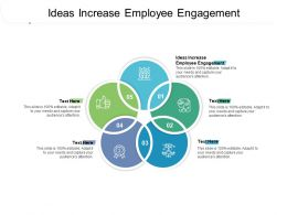 Ideas Increase Employee Engagement Ppt Powerpoint Presentation Pictures Outfit Cpb