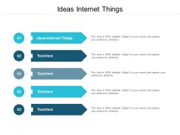 Ideas Internet Things Ppt Powerpoint Presentation Show Structure Cpb