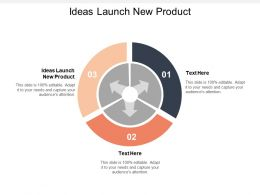Ideas Launch New Product Ppt Powerpoint Presentation File Smartart Cpb