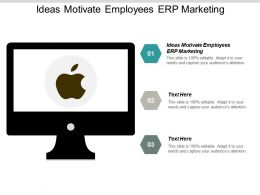 Ideas Motivate Employees ERP Marketing Ppt Powerpoint Presentation Diagram Images Cpb
