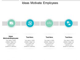 Ideas Motivate Employees Ppt Powerpoint Presentation Ideas Backgrounds Cpb