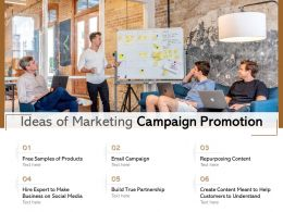 Ideas Of Marketing Campaign Promotion