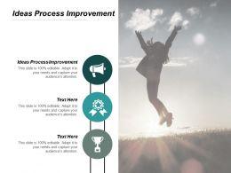 Ideas Process Improvement Ppt Slides Model Cpb