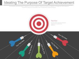 Ideating The Purpose Of Target Achievement Ppt Slides