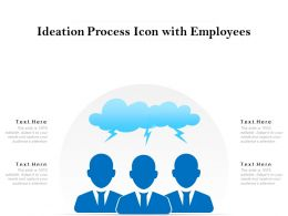 Ideation Process Icon With Employees