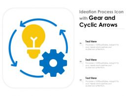Ideation Process Icon With Gear And Cyclic Arrows