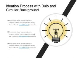 Ideation Process With Bulb And Circular Background