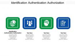 Identification Authentication Authorization Ppt Powerpoint Presentation Inspiration Model Cpb