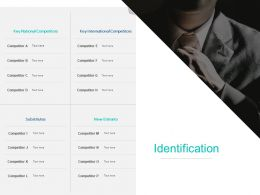 Identification Competitors Ppt Powerpoint Presentation Show Icon