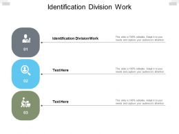 Identification Division Work Ppt Powerpoint Presentation Slides Show Cpb