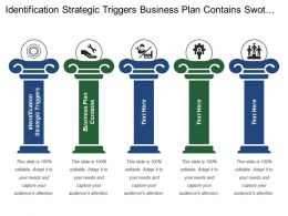 Identification Strategic Triggers Business Plan Contains Swot Analysis