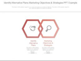 Identify Alternative Plans Marketing Objectives And Strategies Ppt Example
