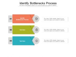 Identify Bottlenecks Process Ppt Powerpoint Presentation Ideas Visuals Cpb