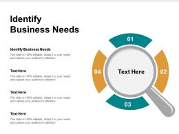 Identify Business Needs Ppt Powerpoint Presentation Gallery Samples Cpb
