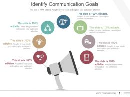 Identify Communication Goals Powerpoint Slide Clipart