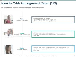 Identify Crisis Management Team Initiatives Reducing Ppt Presentation Rules