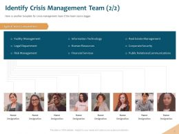 Identify Crisis Management Team Legal Department Ppt Powerpoint Microsoft
