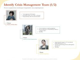 Identify Crisis Management Team R493 Ppt Topics