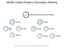 Identify Critical Positions Succession Planning Ppt Powerpoint Presentation Gallery Cpb