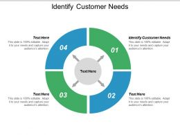 Identify Customer Needs Ppt Powerpoint Presentation Gallery Ideas Cpb
