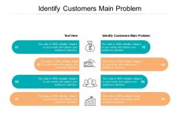 Identify Customers Main Problem Ppt Powerpoint Presentation Portfolio Slide Download Cpb