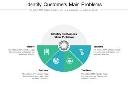 Identify Customers Main Problems Ppt Powerpoint Presentation Pictures Templates Cpb