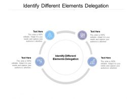 Identify Different Elements Delegation Ppt Powerpoint Presentation Professional Graphics Pictures Cpb