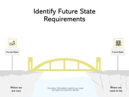 Identify Future State Requirements Current State Ppt Powerpoint Presentation Layouts Aids