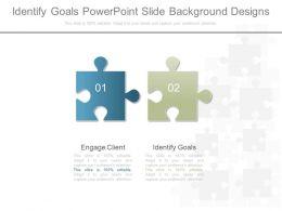 Identify Goals Powerpoint Slide Background Designs