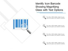 Identify Icon Barcode Showing Magnifying Glass With Text Options