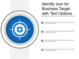 Identify Icon For Business Target With Text Options
