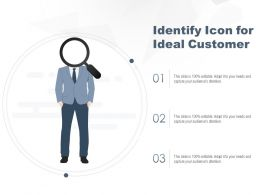 Identify Icon For Ideal Customer