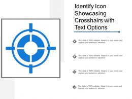 Identify Icon Showcasing Crosshairs With Text Options