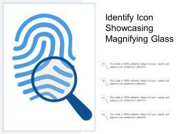 Identify Icon Showcasing Magnifying Glass