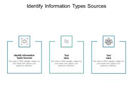 Identify Information Types Sources Ppt Powerpoint Presentation Outline Cpb