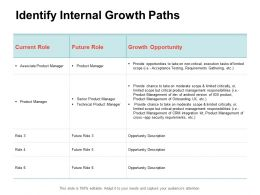Identify Internal Growth Paths Opportunity Ppt Powerpoint Presentation File Graphics