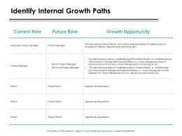 Identify Internal Growth Paths Ppt Powerpoint Presentation Icon Professional