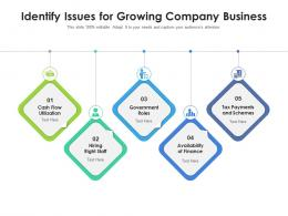 Identify Issues For Growing Company Business