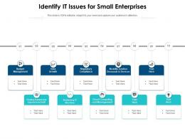Identify It Issues For Small Enterprises