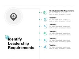 Identify Leadership Requirements Ppt Powerpoint Presentation Pictures Images Cpb