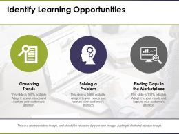 Identify Learning Opportunities Observing Trends
