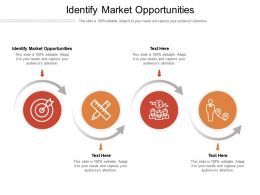 Identify Market Opportunities Ppt Powerpoint Presentation Model Outline Cpb