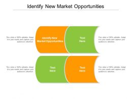 Identify New Market Opportunities Ppt Powerpoint Presentation Samples Cpb